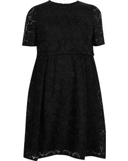 Plus Black Lace Midi Dress