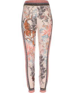 Pink Tiger Print Jersey Pyjama Bottoms