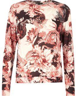 Pink Floral Print Pyjama Top