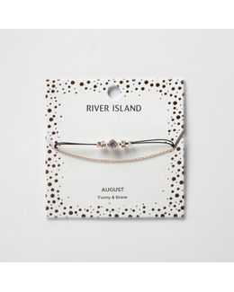 Green August Birthstone Chain Bracelet