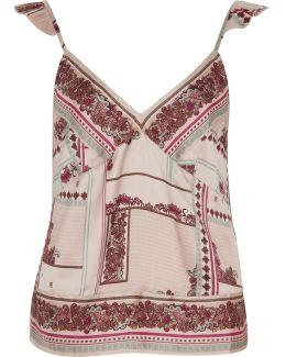 Cream Floral Cami Pyjama Top