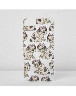 Beige Dog Bow Iphone 6/7 Case