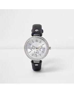 Black Diamante Encrusted Watch
