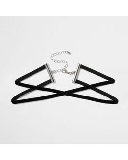 Black Velvet Cross Choker