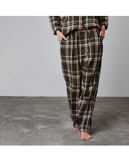 Green Design Forum Check Pyjama Trousers
