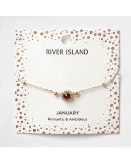 Red Gem July Birthstone Bracelet