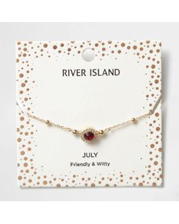 Red Gem July Birthstone Bracelet