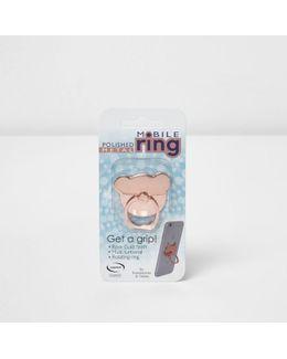 Rose Gold Tone Dog Mobile Ring
