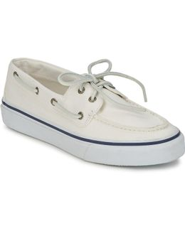 Sperry Top Sider Bahama 2-eye Men Moc Toe Canvas White Loafer