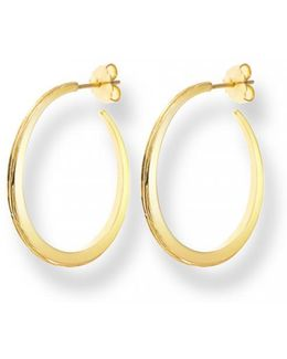 Gold Luna Hoops