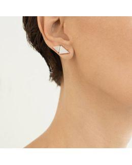 Rhodium Pin Orgami Earrings