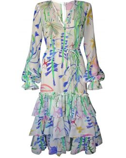 Fantasy Print Silk Georgette Dress