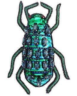 Green Scarab Brooch