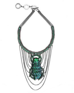 Swinging Scarab Necklace