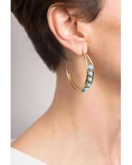 Chloe Hoop Earrings In Turquoise