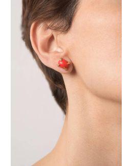 Sira Coral Stud Earrings
