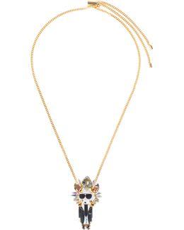 """karl"" Crown Pendant Necklace"
