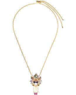 """anna"" Crown Pendant Necklace"