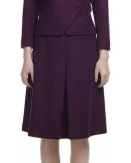 Wool And Cashmere Burgundy Skirt