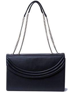 Luxe Black Large Cross Body Bag