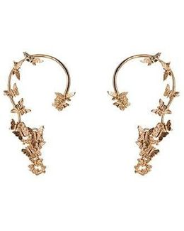 Butterflies Gold Ear Cuffs