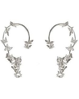Butterflies Silver Ear Cuffs