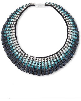 Fade Ombre Crystal Choker Necklace
