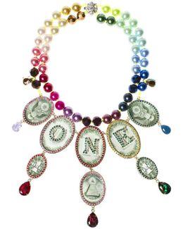 Rainbow One Dollar Chandelier Necklace