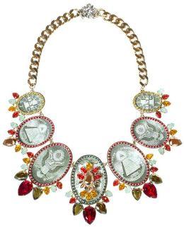 Watermellon Medallion Necklace