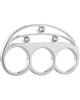 Stelle 01 Three Finger Silver Ring