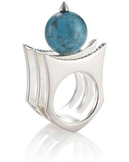 Greta 01 Silver And Turquoise Ring