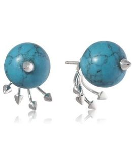 Greta 05 Silver And Turquoise Earring
