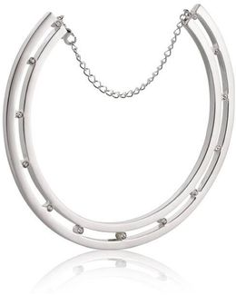 Stelle 06 Silver And Crystal Choker Necklace