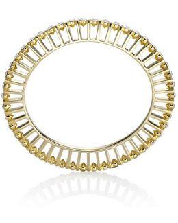 Ella 10 Gold And Crystal Bangle