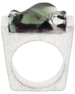 Murano Glass And Silver Ring
