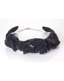 Agua Black Polymer Choker Necklace