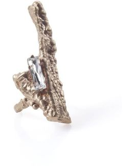 Bagana Rose Gold Ring With Crystal