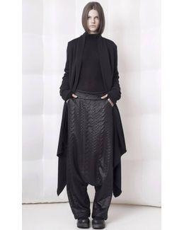 Black Split Back Cardigan
