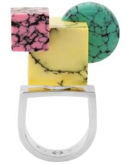 Back To School Marble Shapes Ring