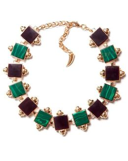 Back To School Malachite Choker Necklace
