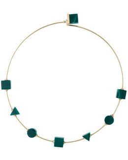 Back To School Malachite Green Choker Necklace