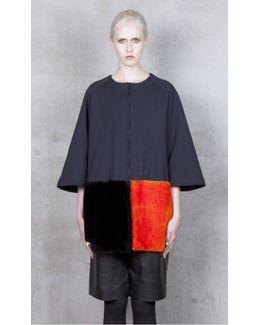 Tetris Orange/black Merino Shearling Jacket