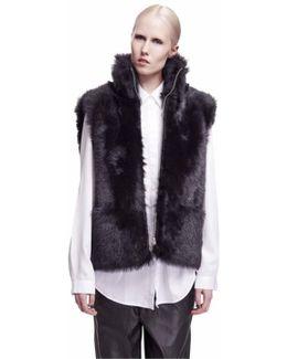 Dozzy Black Toscana Shearling Vest