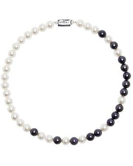 Astro 21c Blue Cabochon And Pearl Necklace