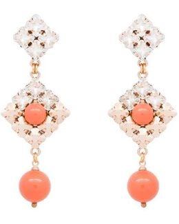 Coral Gerry Drop Earrings