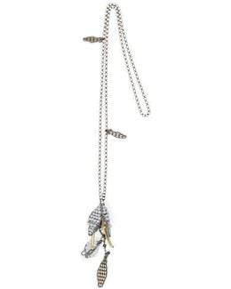 Layering Beaded Necklace With Pendant 24