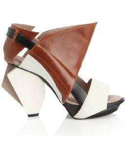 Lorac Brown Leather Sandals