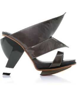 Sian Charcoal High Heel Mule