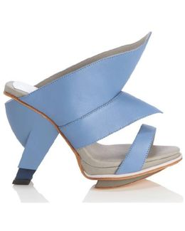 Sian Sky Blue High Heel Mule