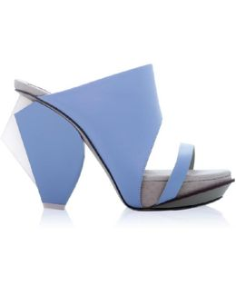 Yam Sky Blue High Heel Mule